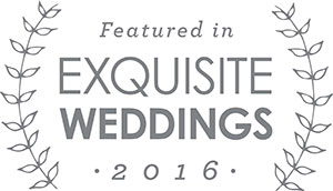 Featured in Exquisite Weddings 2016